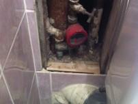 Remplacement descente passant par les toilettes