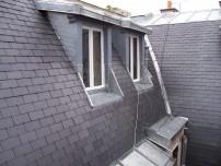 Vue d'ensemble de la toiture rénovée