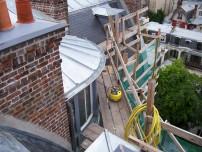 Travaux en cours de la toiture